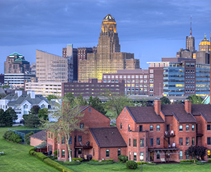 Buffalo New York skyline