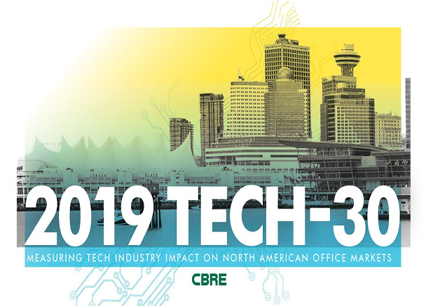 Seattle Listed Among Tech Hotspots in CBRE Tech-30 Report