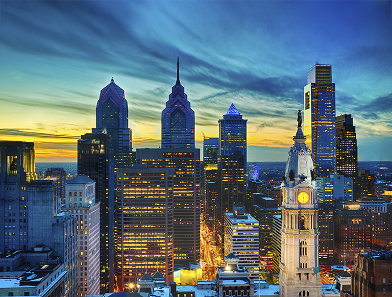 Center city philadelphia skyline