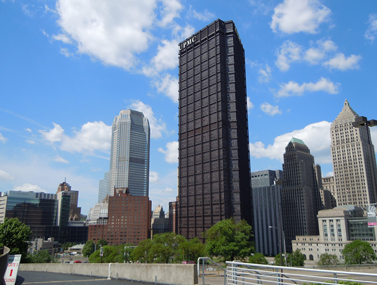 downtown pittsburgh skyline us steel tower