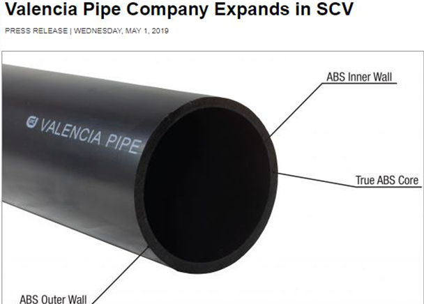 CBRE Announced 170,990 Square-Foot Industrial Lease to Valencia Pipe Company at Vista Business Park in Valencia, Calif.