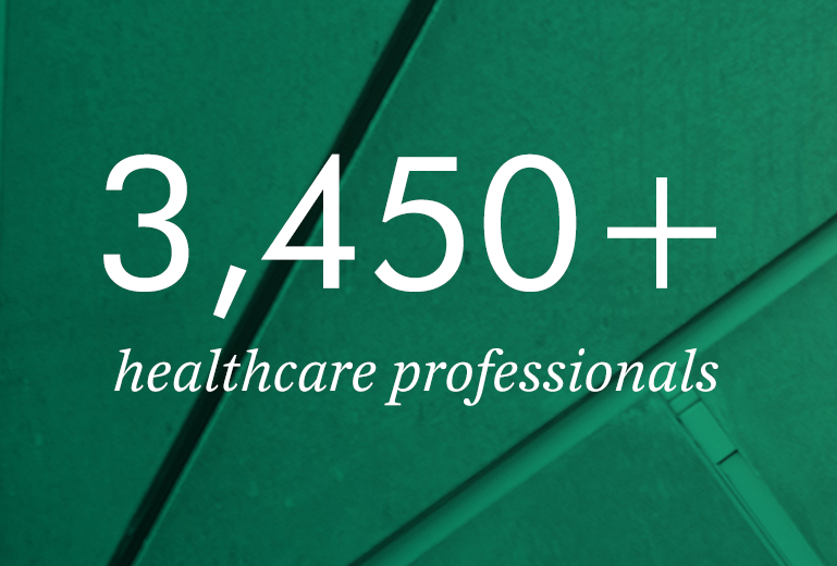 3,450+  healthcare professionals
