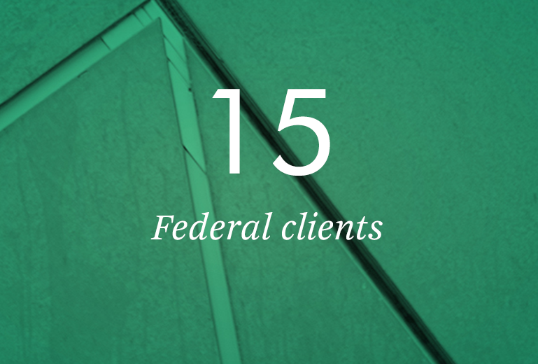15 Federal clients