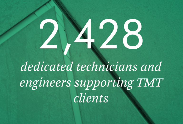 2428 dedicated technicians and engineers supporting TMT clients